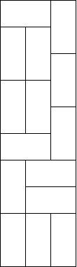 Przykładowe ułożenie prostokątów